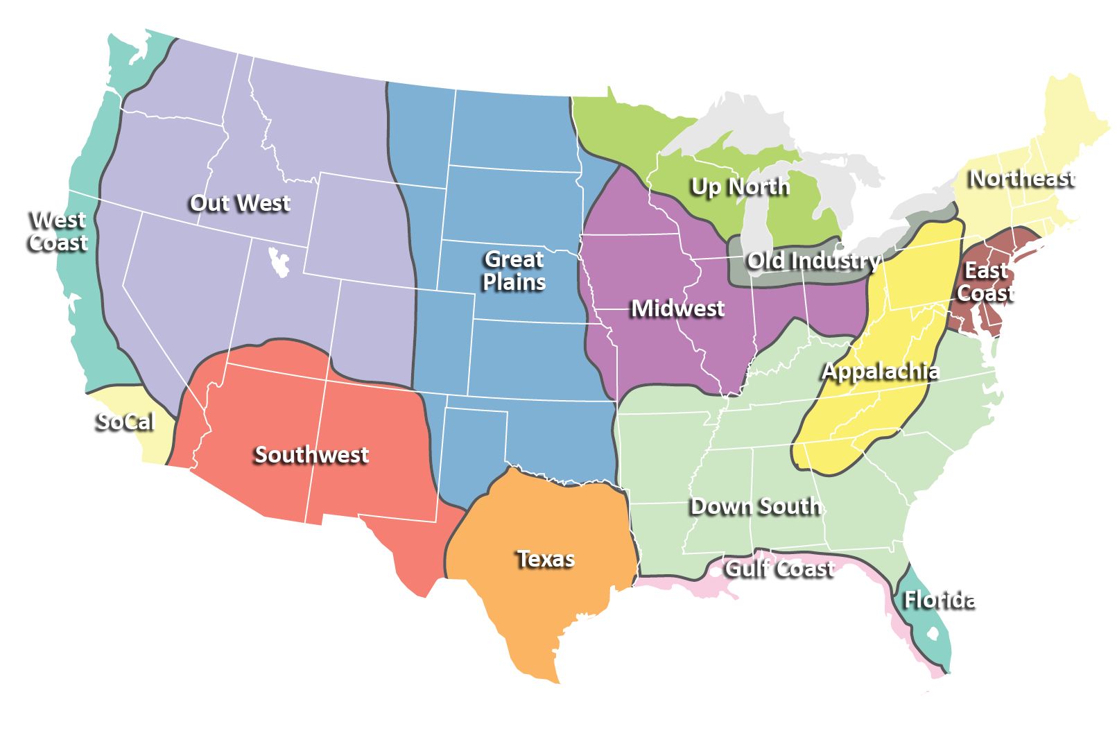 Regions Bluegrass Regions Bluegrass Honky Tonk Pinterest - Weird maps of the us